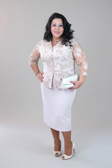 EDINA bézs színű 2 részes kosztüm ac90317ede