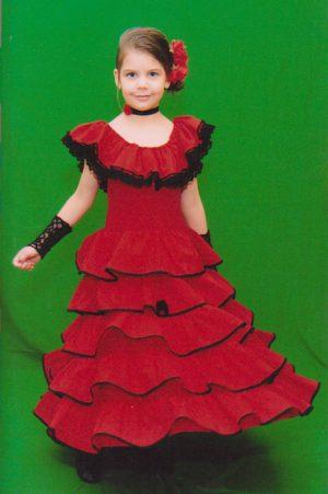 ae57f927e7 Gyermek lány jelmezek. Spanyol táncosnő lányka jelmez